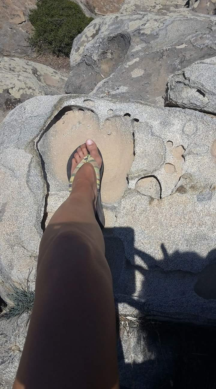 """small foot in a """"big foot step"""" - Paros - Greece  by Ilse Peters"""