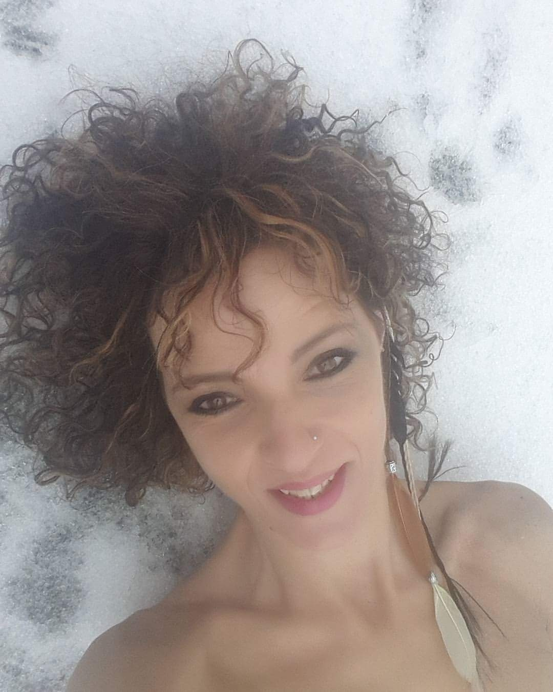 Snow selfie :-)  by Ilse Peters