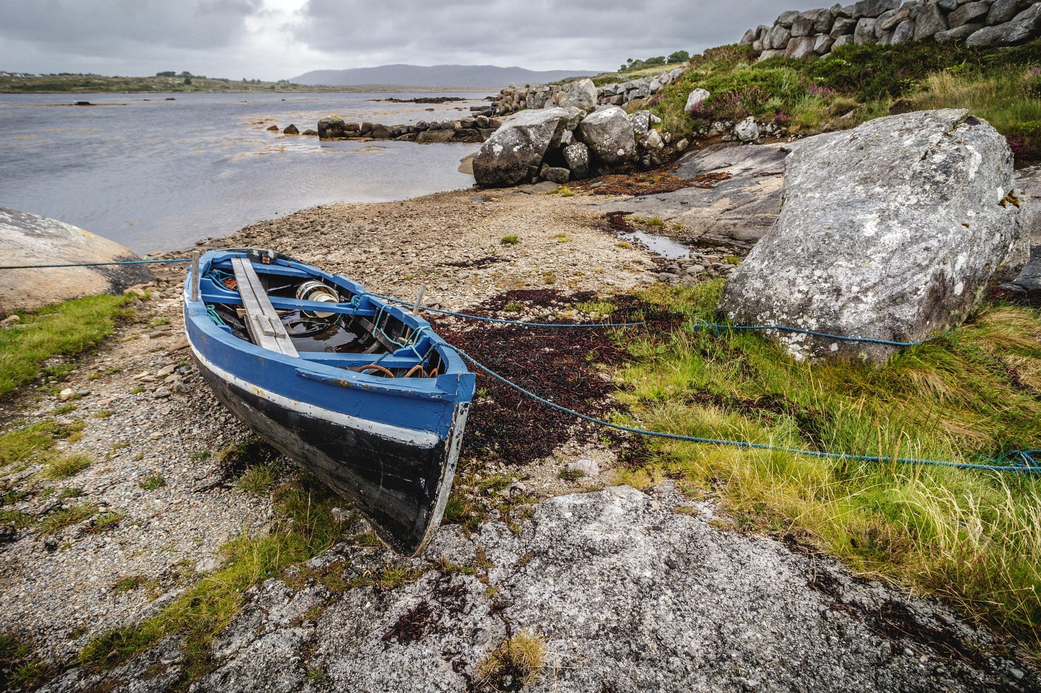 the blue boat  by Stefan Lauterbach