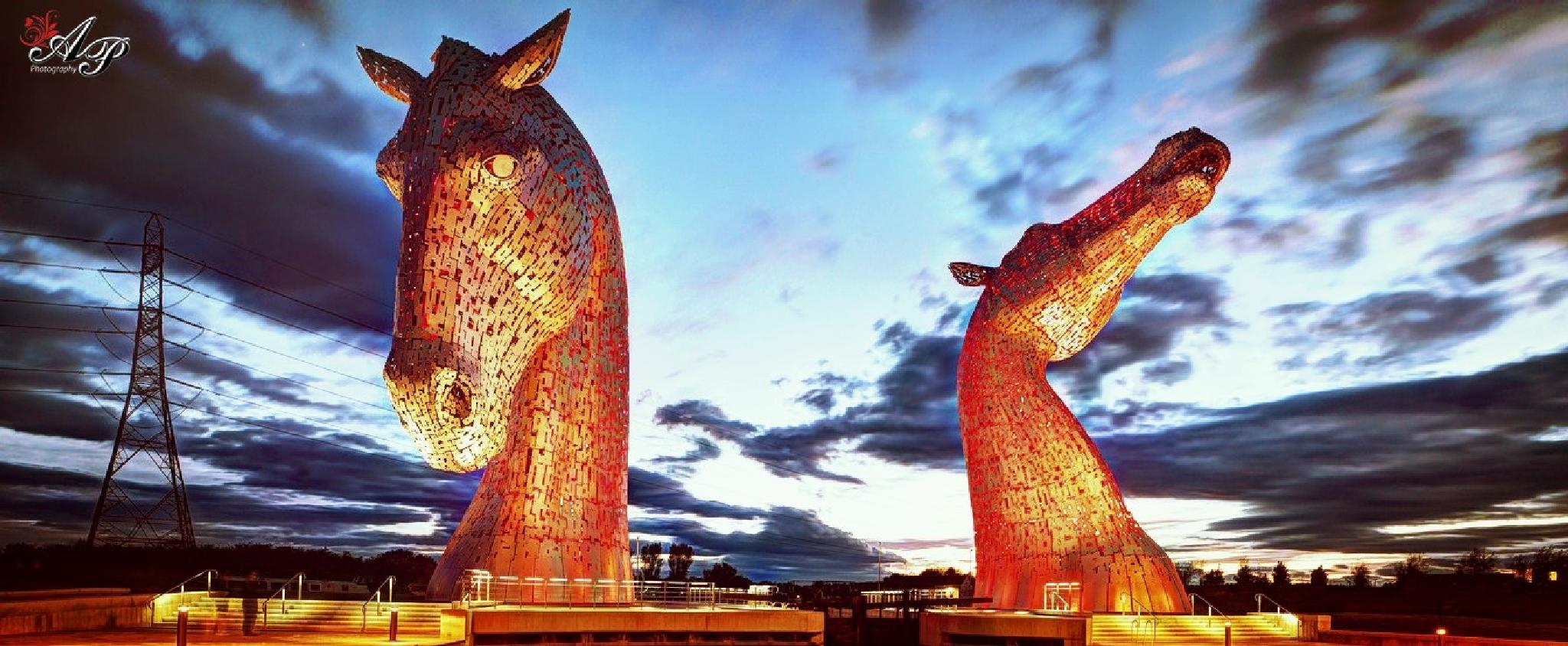 Kelpies in Falkirk, Scotland  by Arin Podder