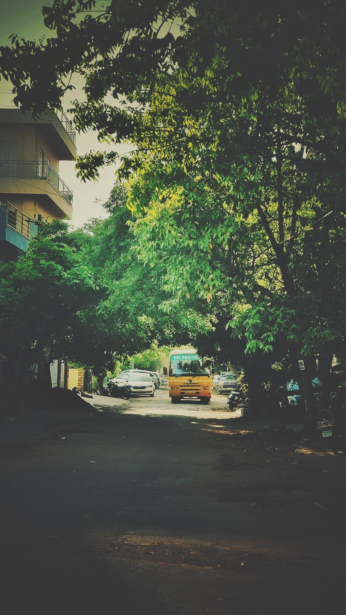 The school bus by DiKsha MiShra
