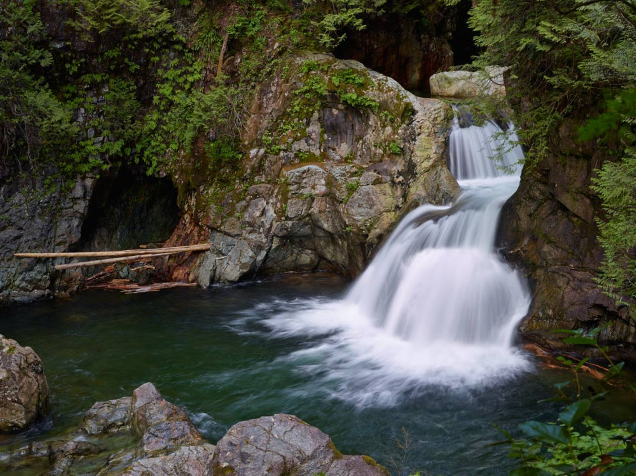 Twin Falls #2, Lynn Valley by MichaelEaston