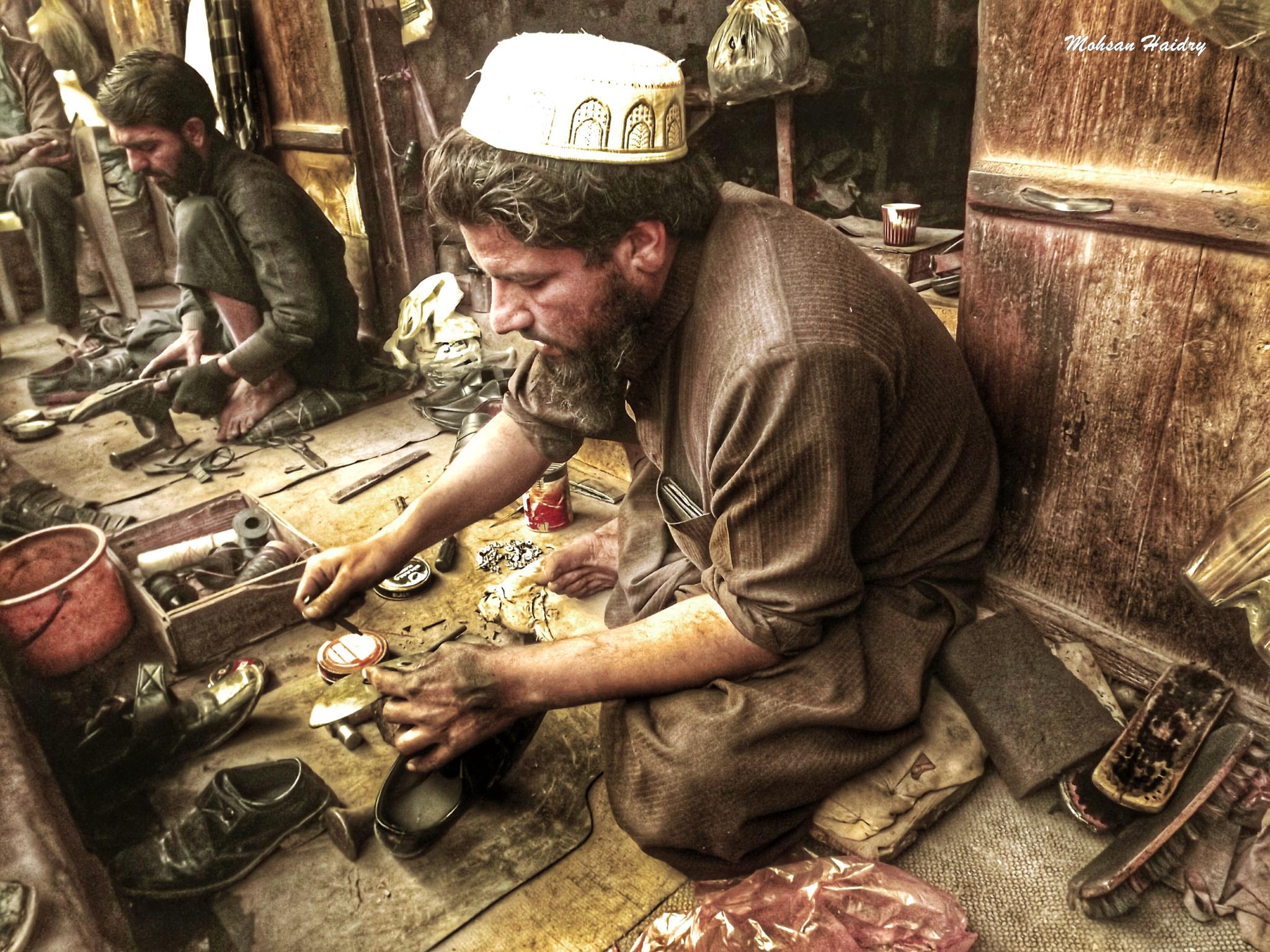 Cobbler Mend My Shoes  by Mohsan Haidry