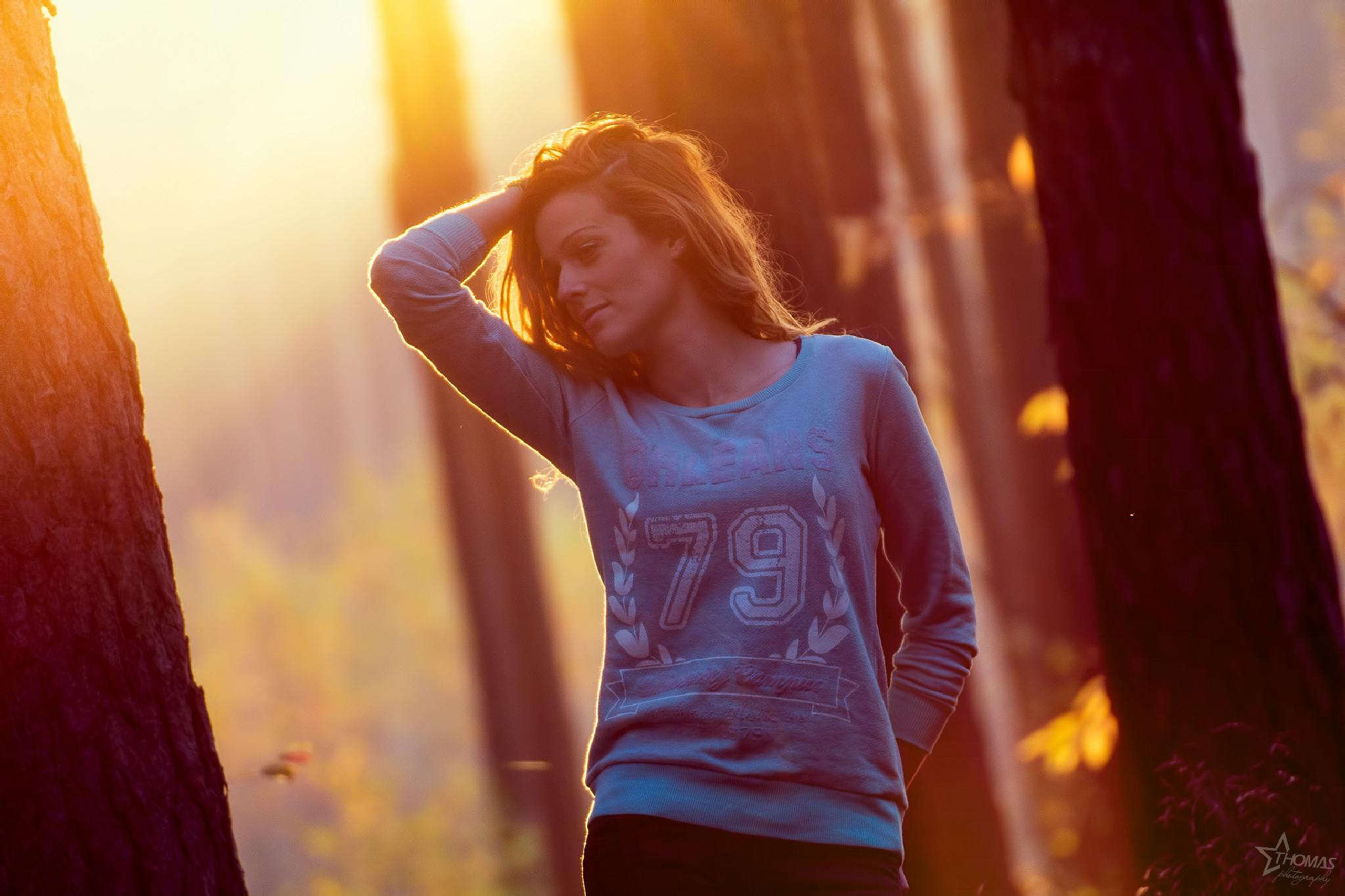 Photo in People #autumn #girl #redhead #sun #sunligt