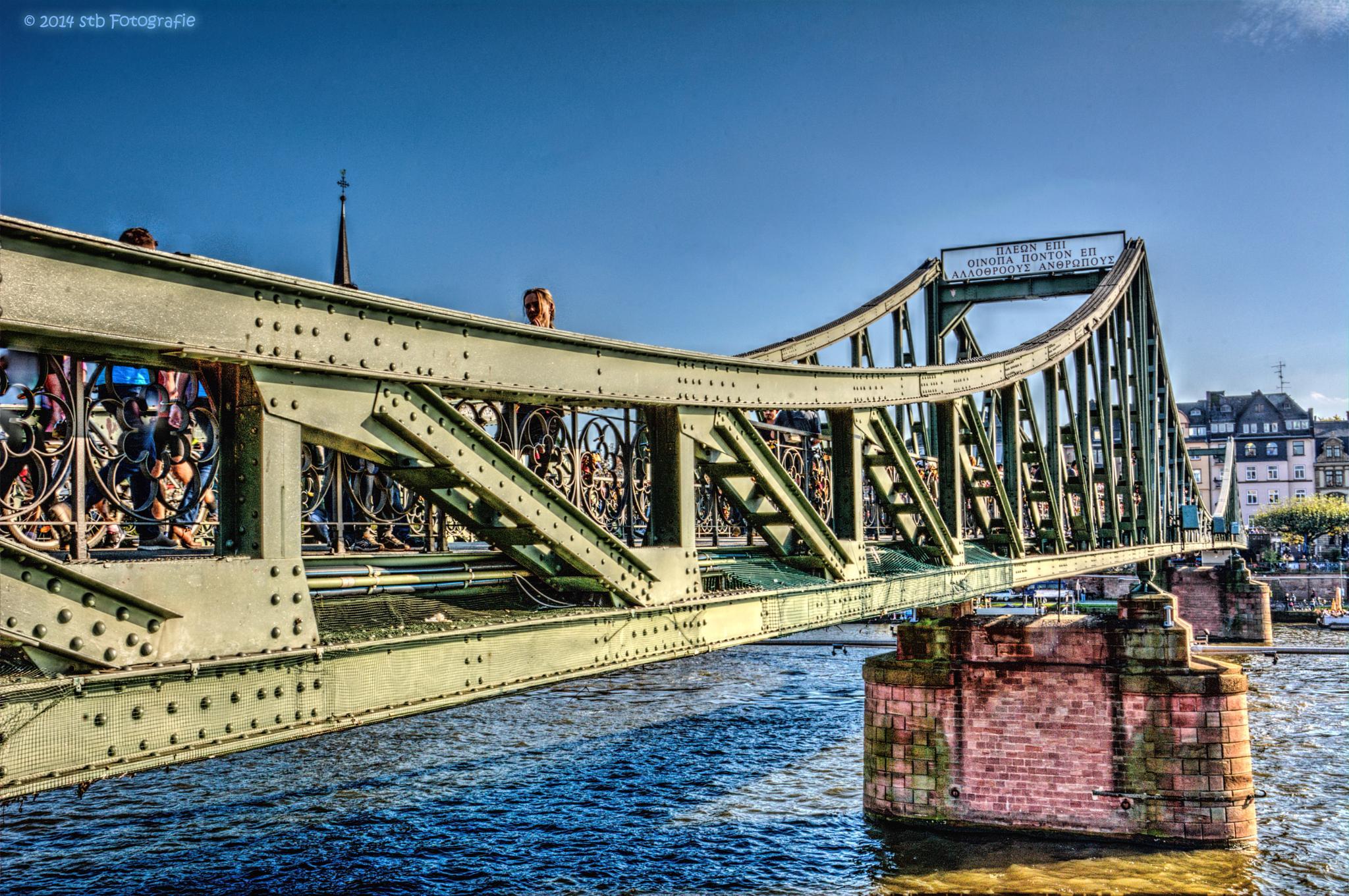 Frankfurt -iron Bridge- by Steffen Batzler
