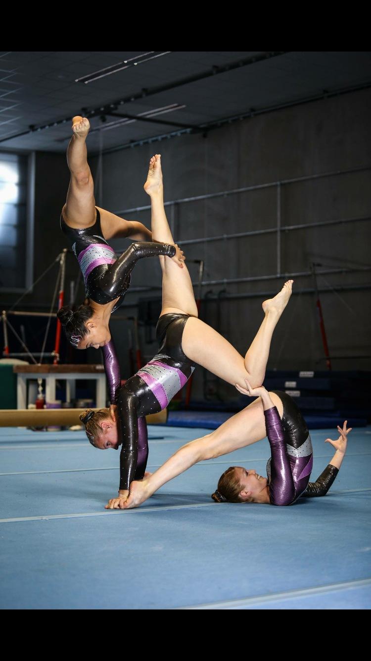TB photoshoot acrobatic gymnastics womens group  by Anniek