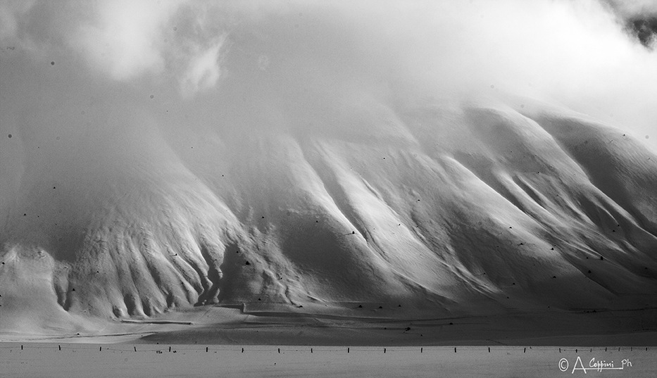 BLACK AND WHITE WINTER IN NORTH CASTELLUCK by Alessandro Coppini