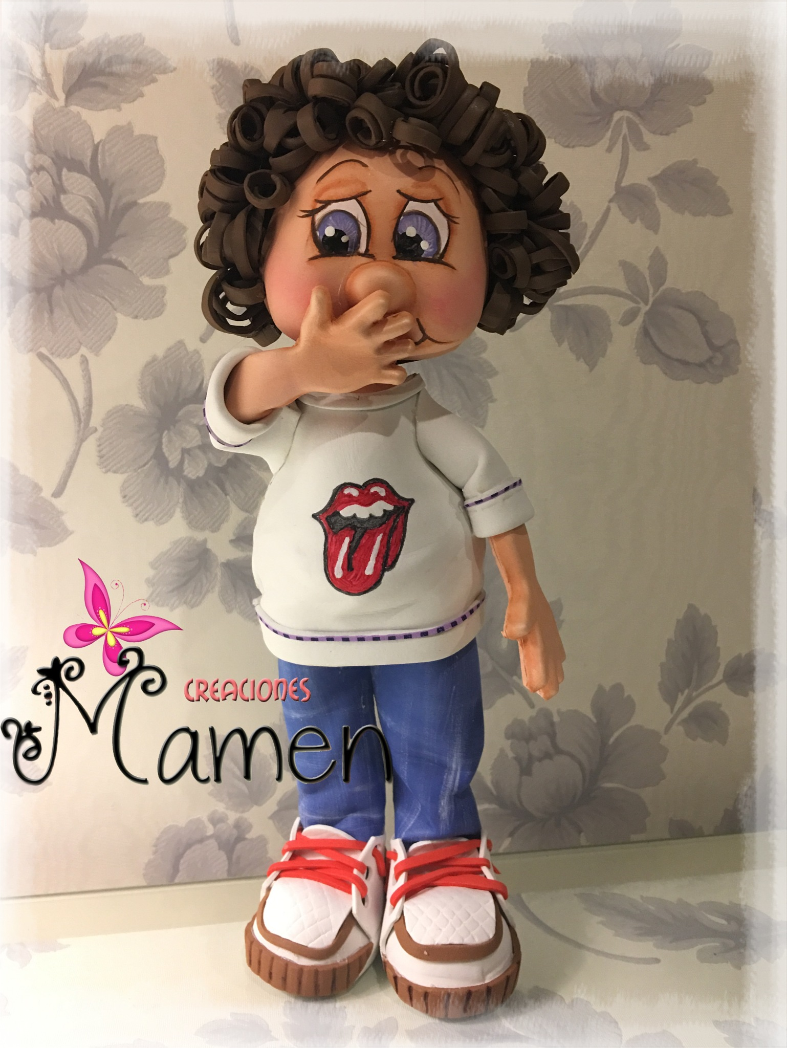 Mateo mi fofucho tímido  fans de los Rolling Stone  by Creaciones Mamen