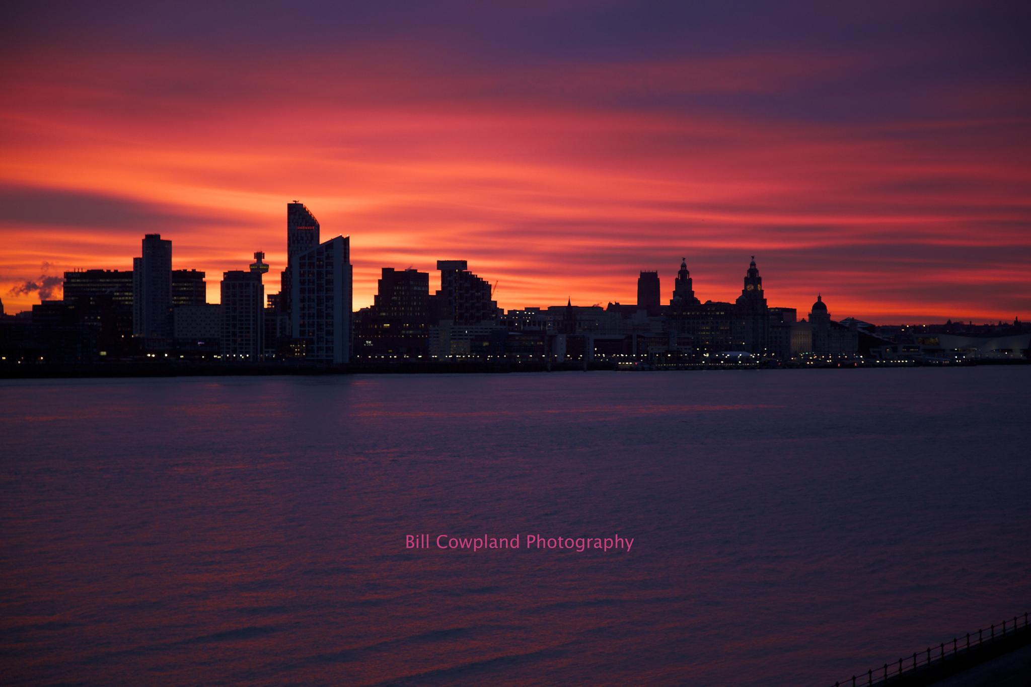 Red dawn by Bill Cowpland