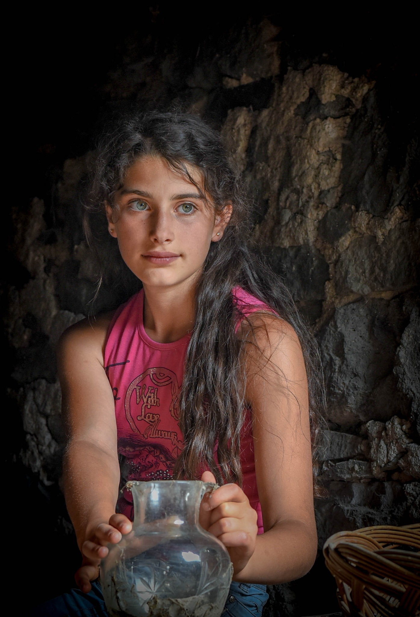 This picture shows a girl . by varderesyan