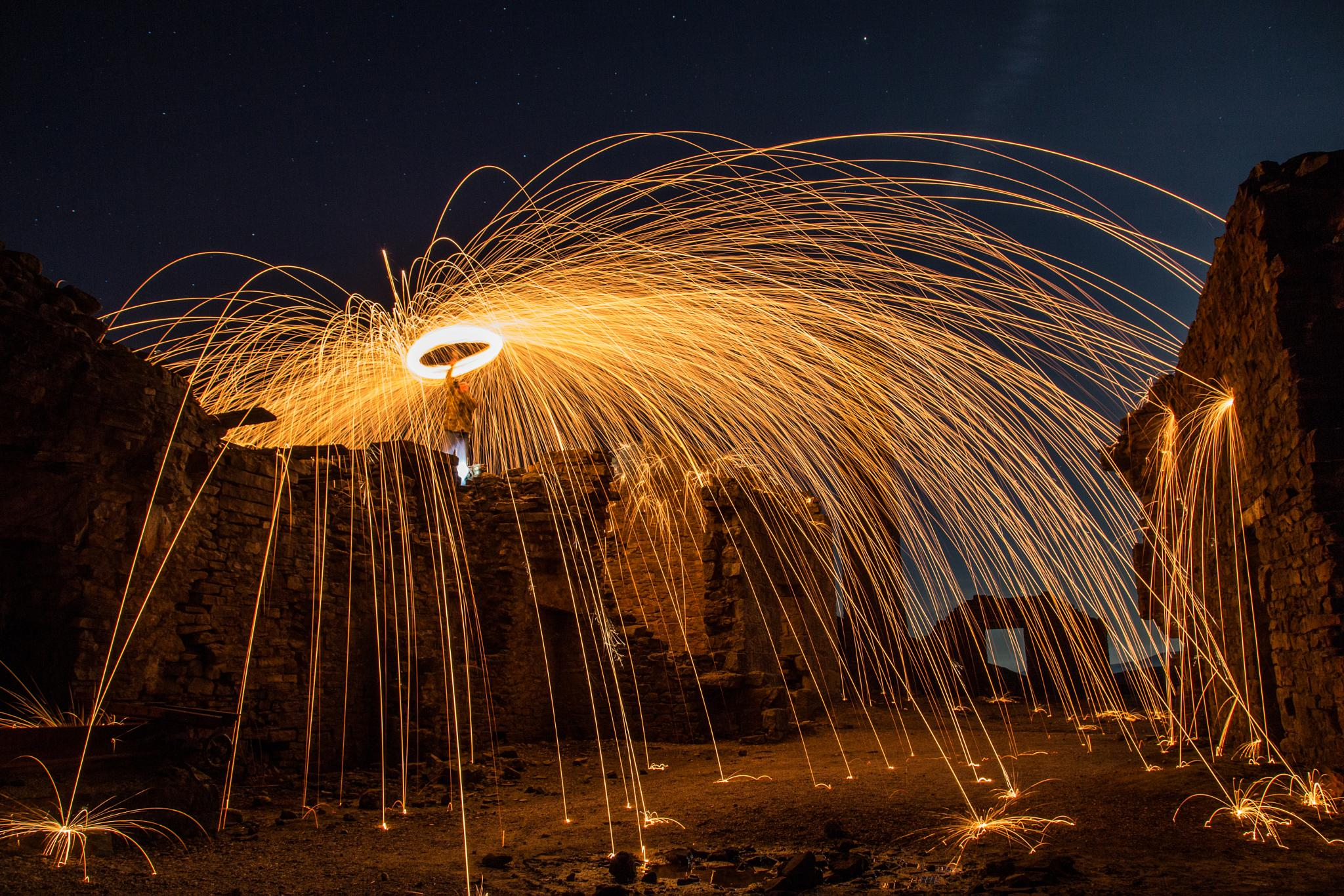 Steel Wool Spinning by Chris Taylor