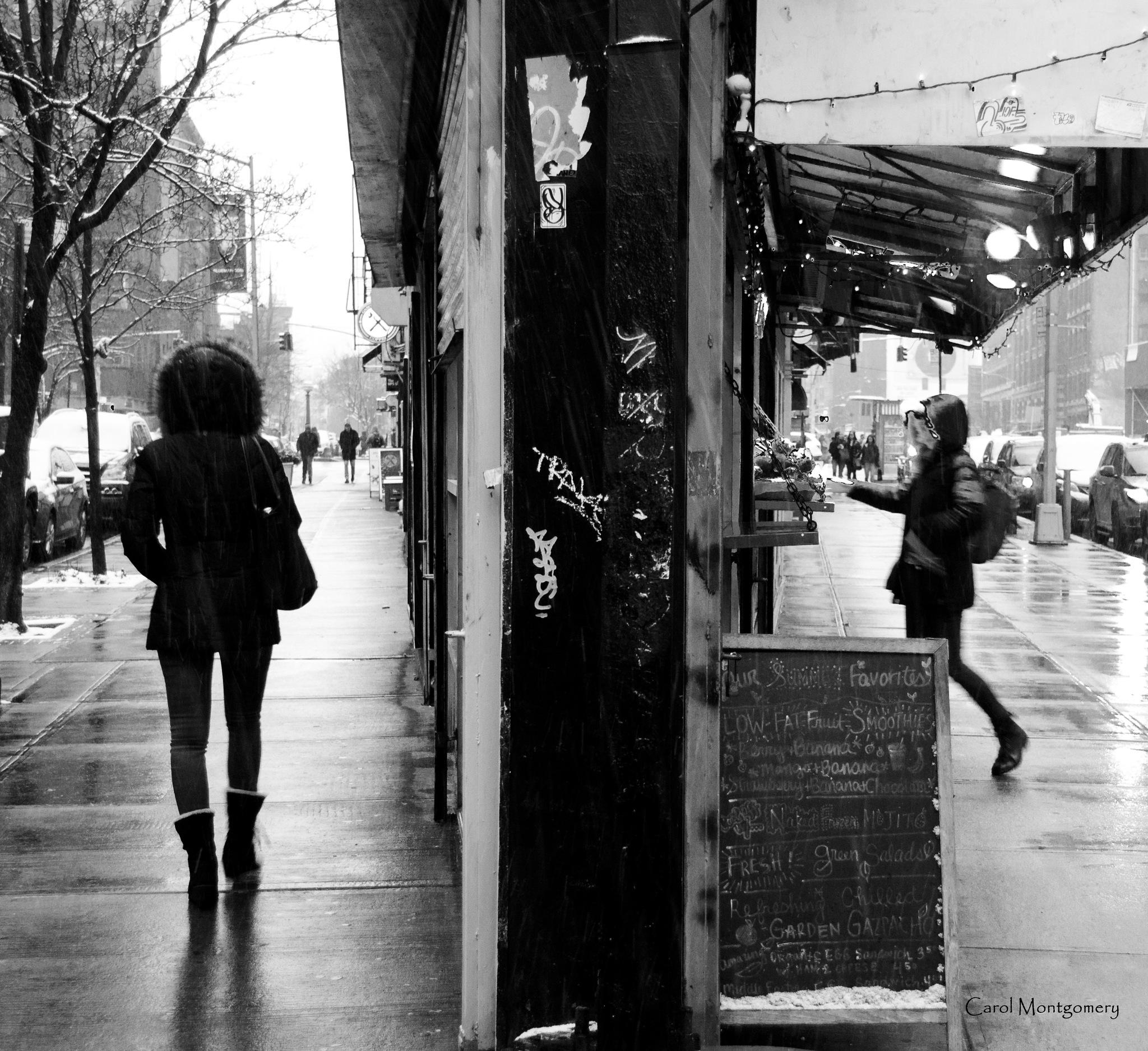 Winter Streets by Carol Montgomery