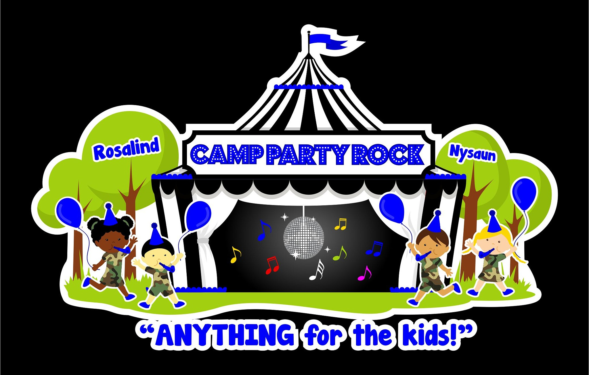 CAMP PARTY ROCK  by Rosalind Vaughan