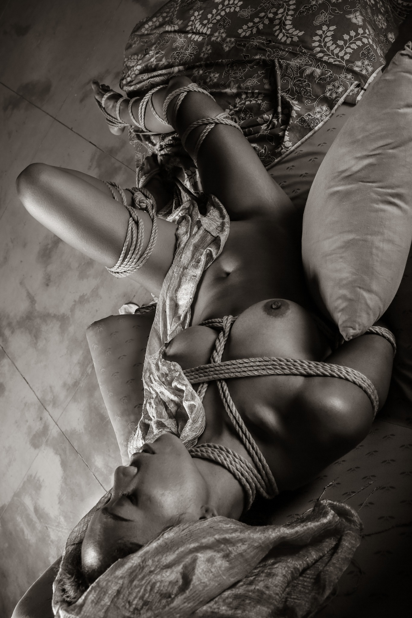 Photo in Random #bw #nude #shibari