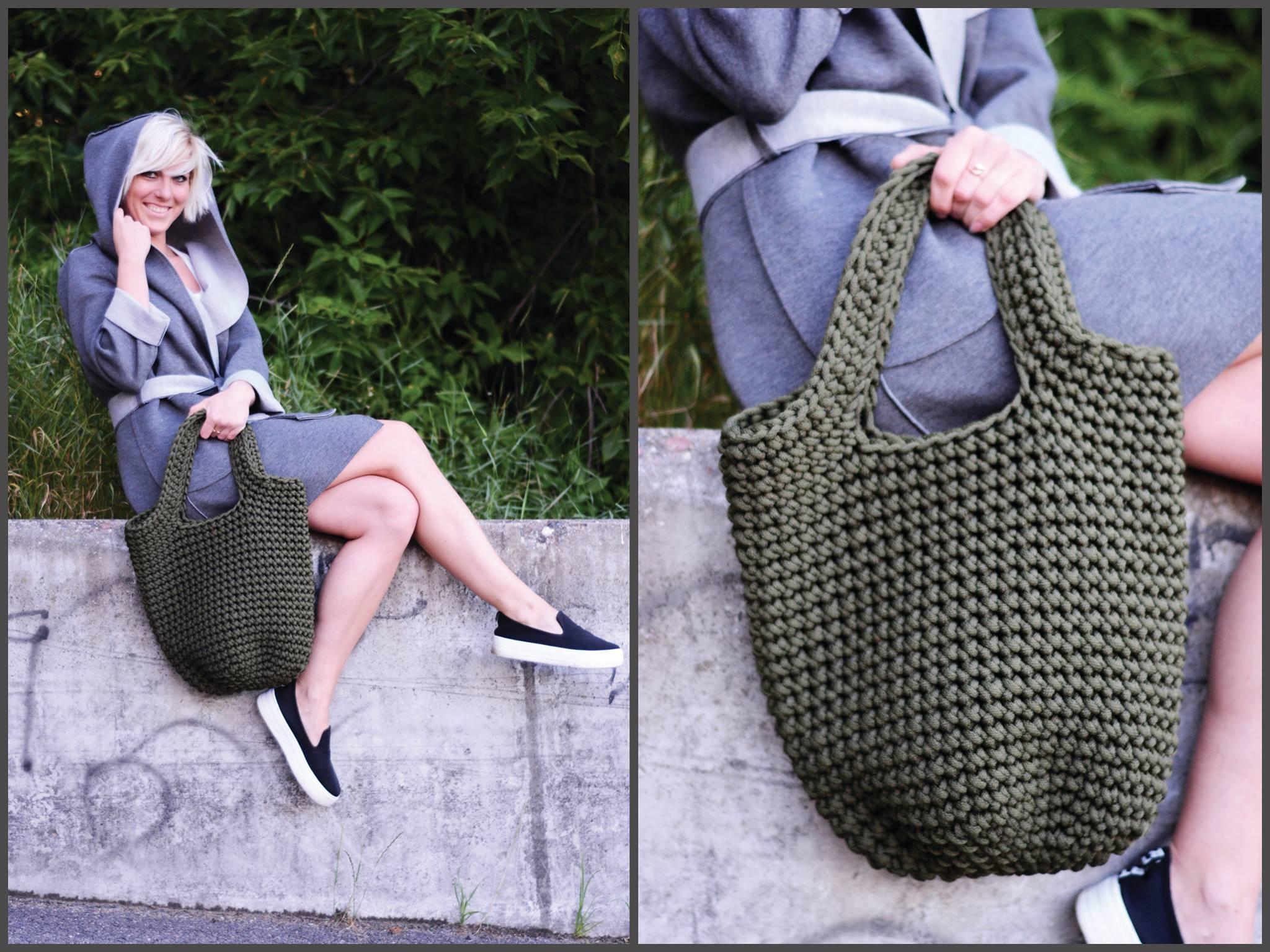 Moss color bag by Patre