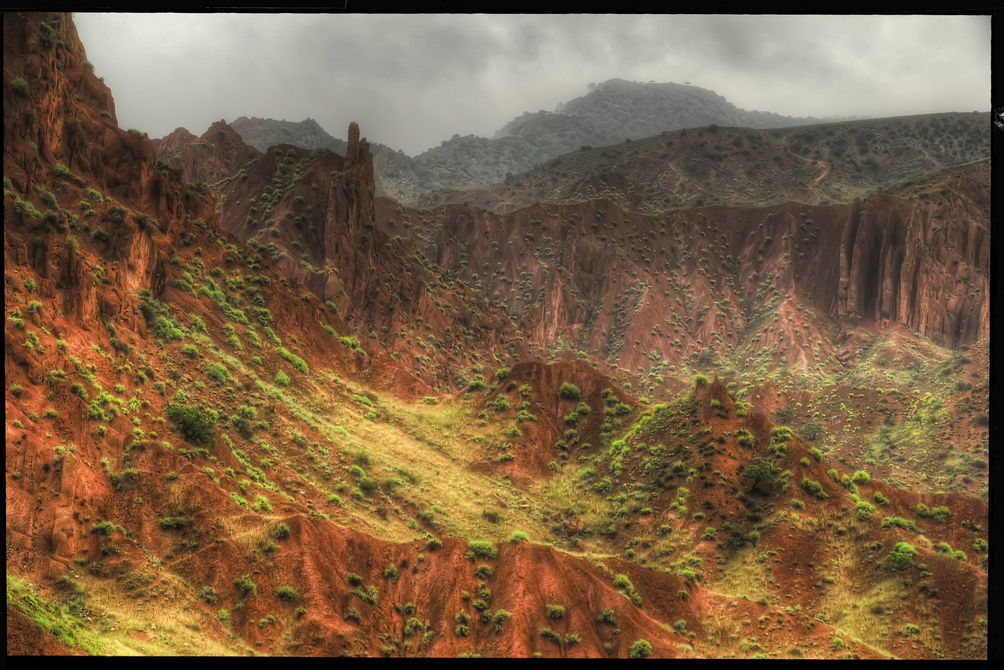 valley in rain by Petricek