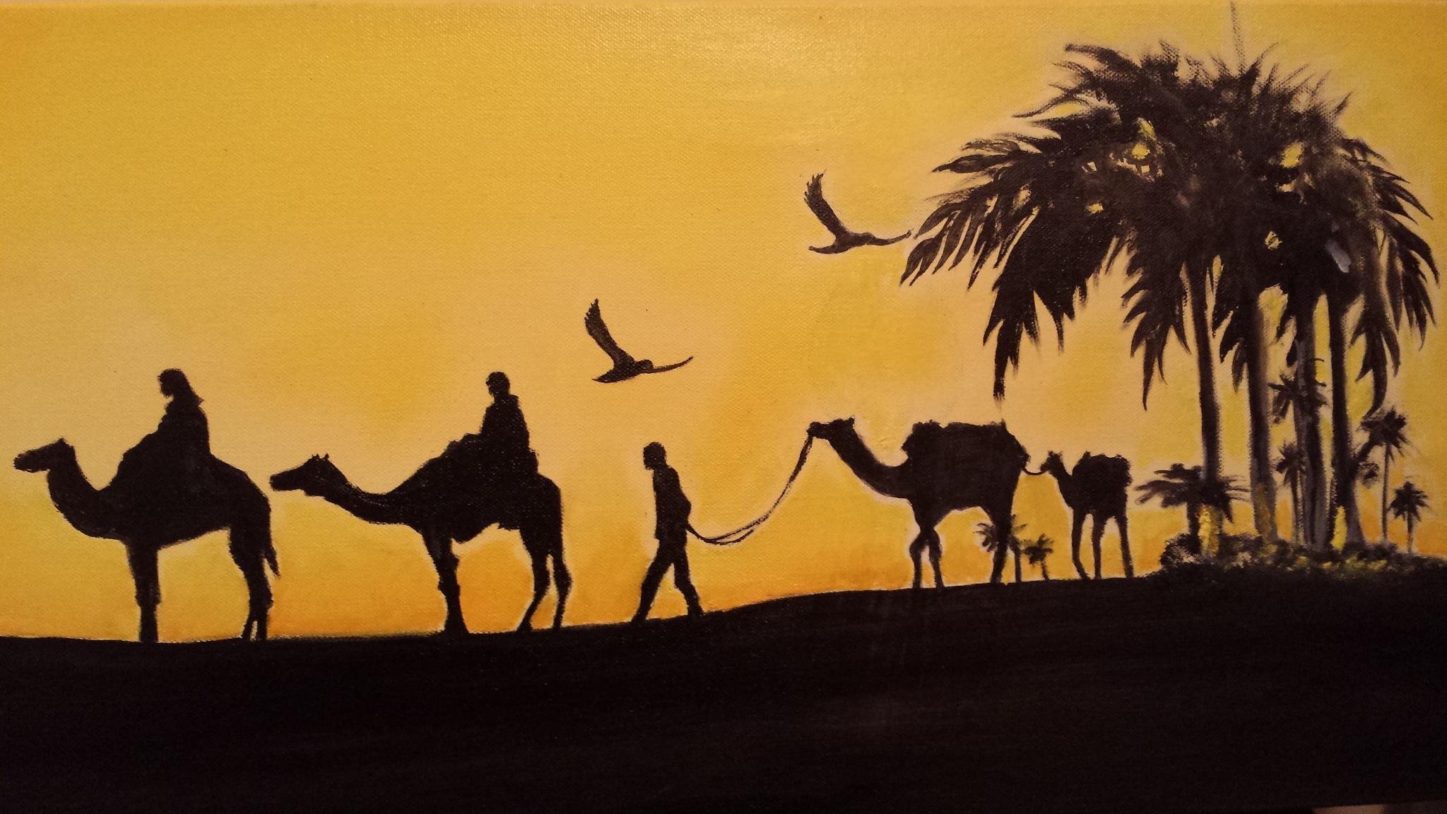 the caravan  by Mehdi Ammani