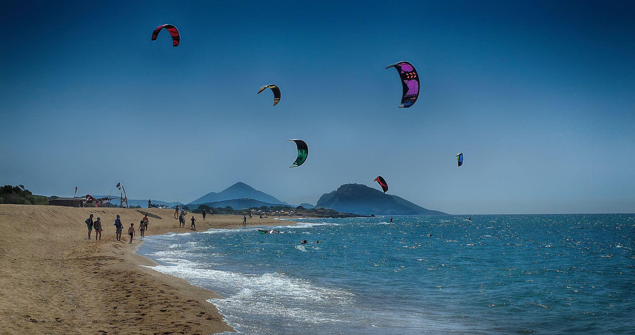 Kitesurfing by Nigel S Jones