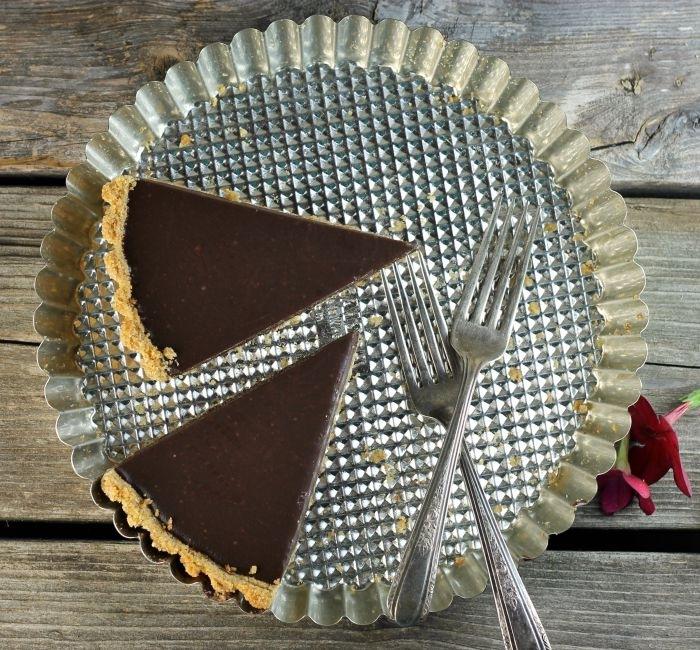 Chocolate Ganache Tart by dawnyucuis