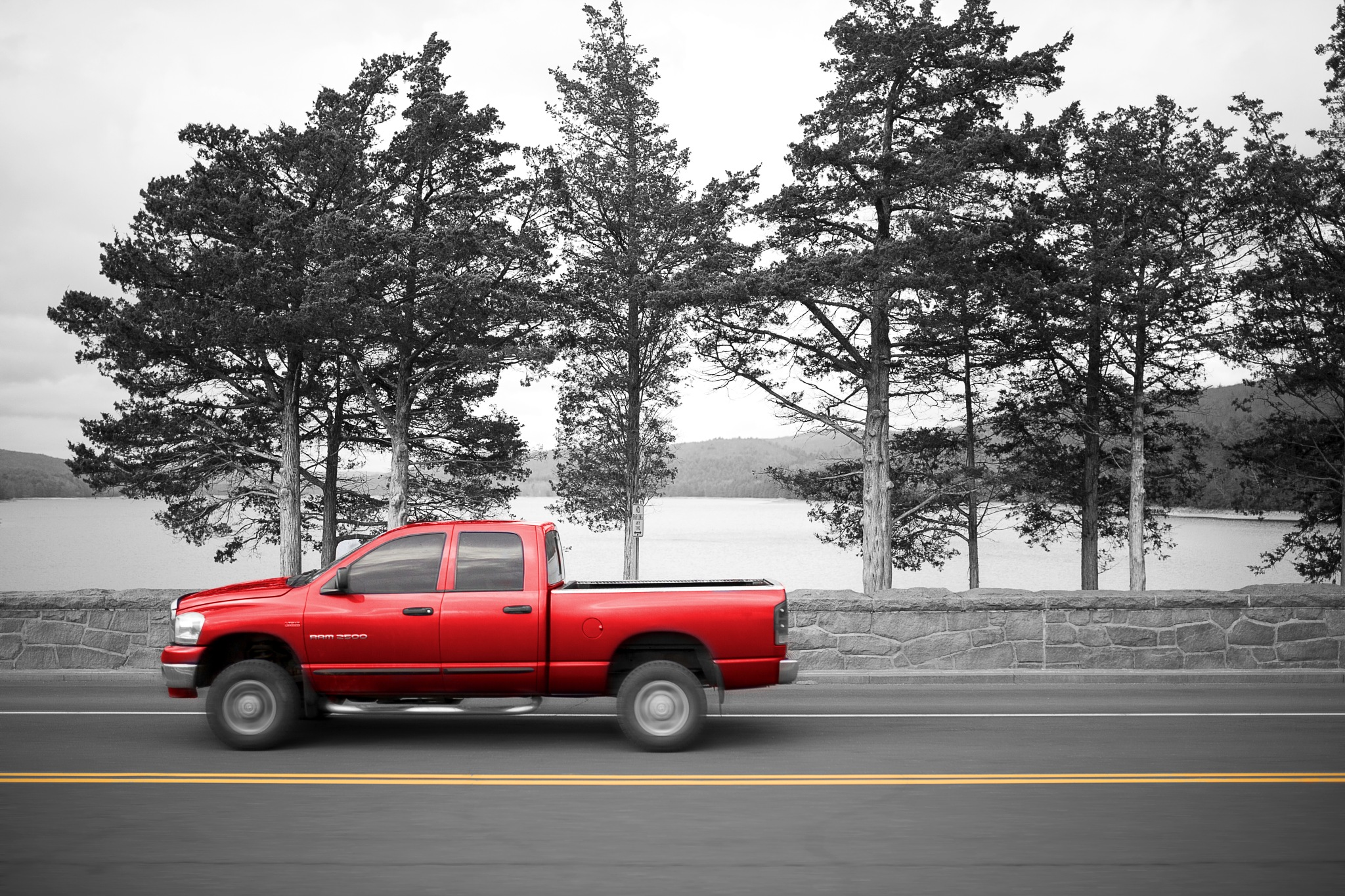 The red pickup by Lorrie Joaus