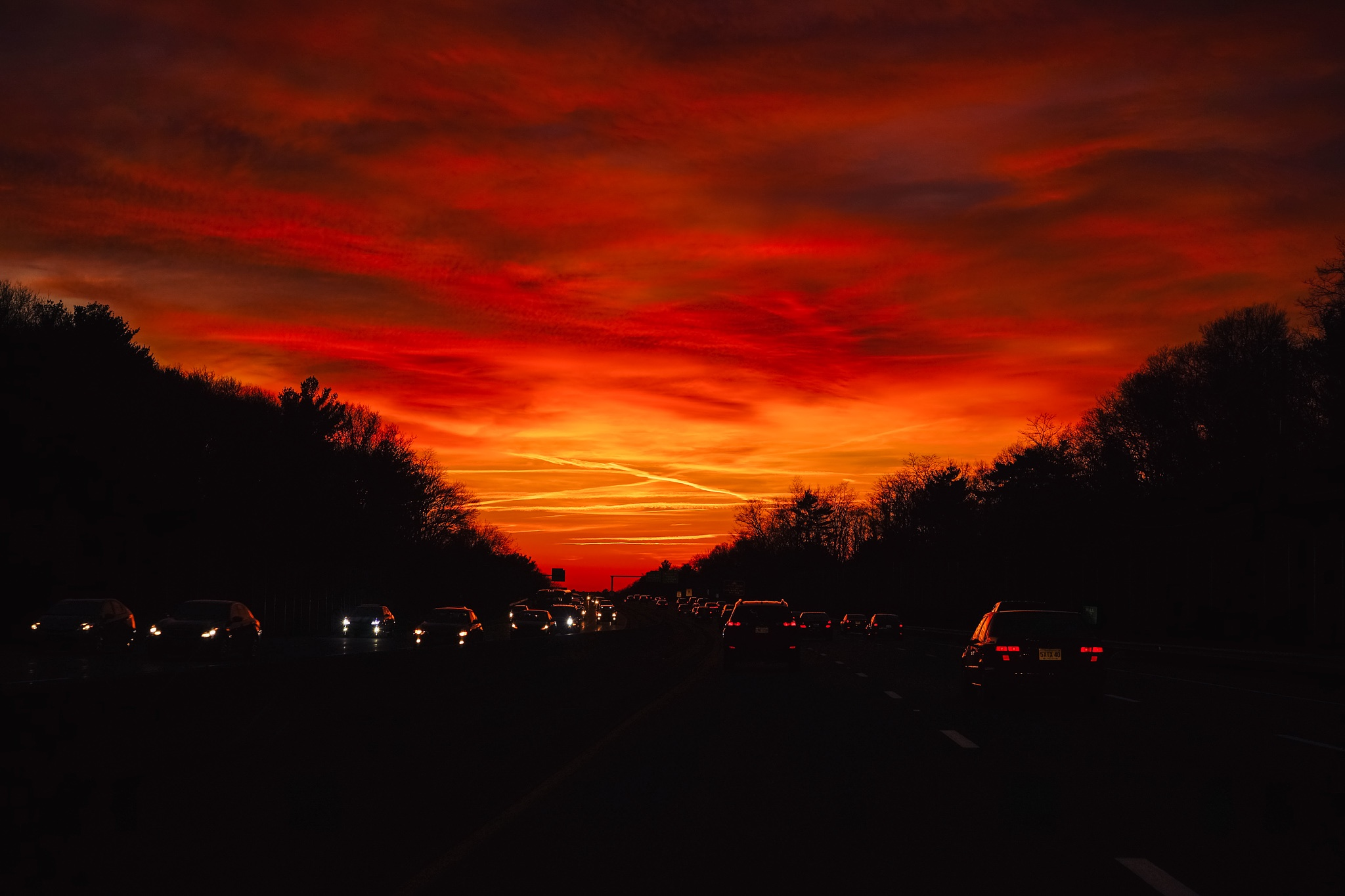 Sunset Traffic by Jane Garchinsky