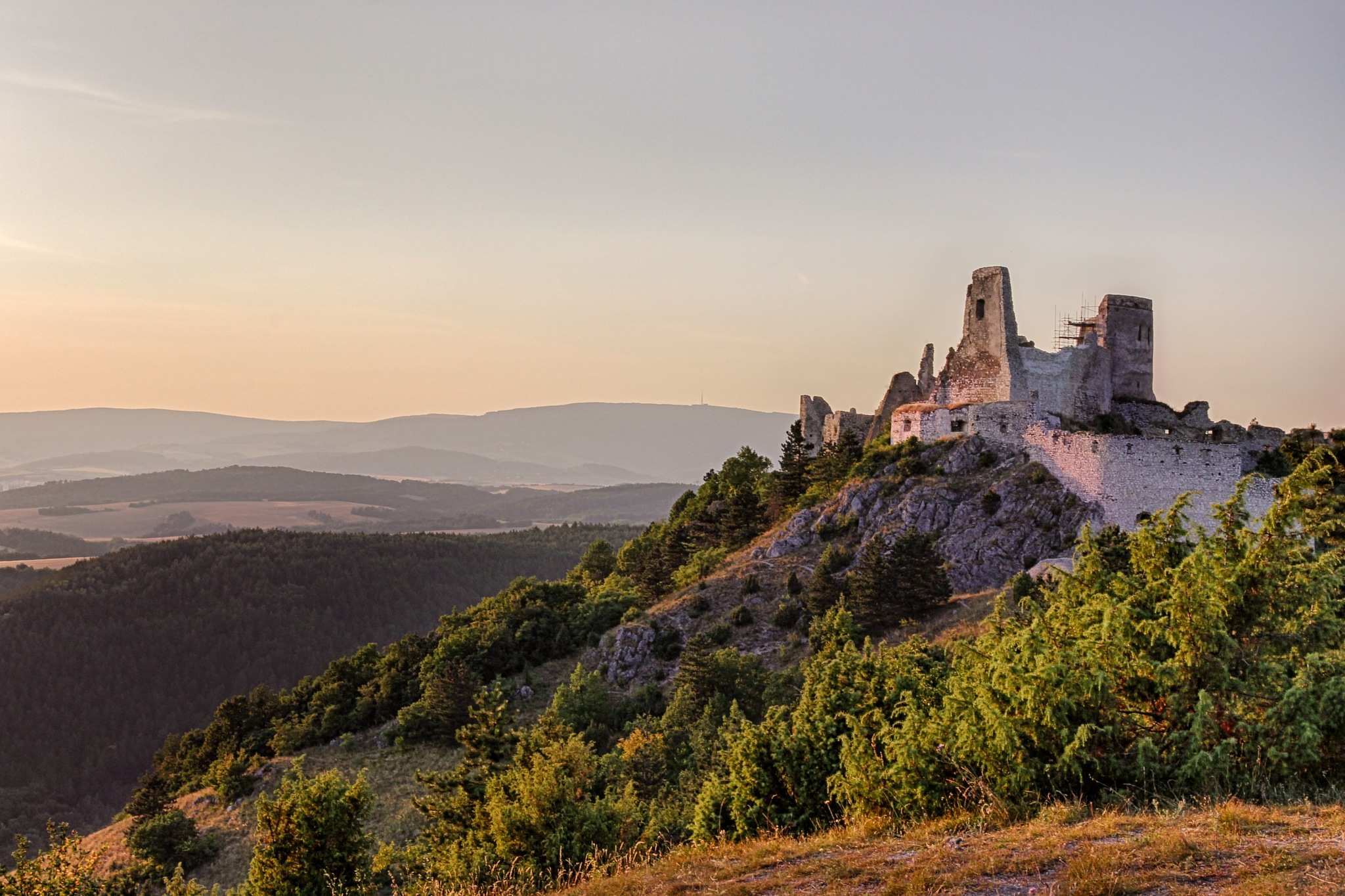 Cachtice castle ruin by Pavol Vesely