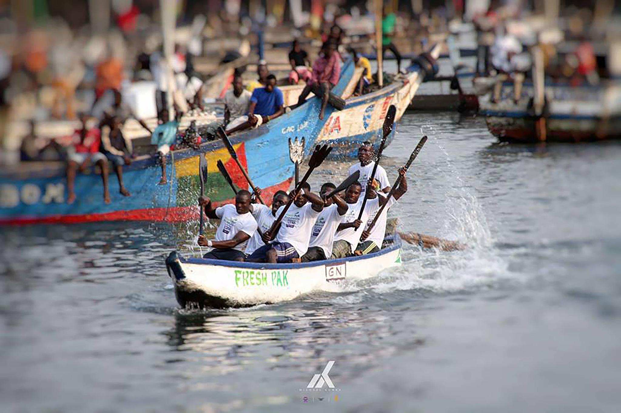 Canoe Race by Michael Kunke