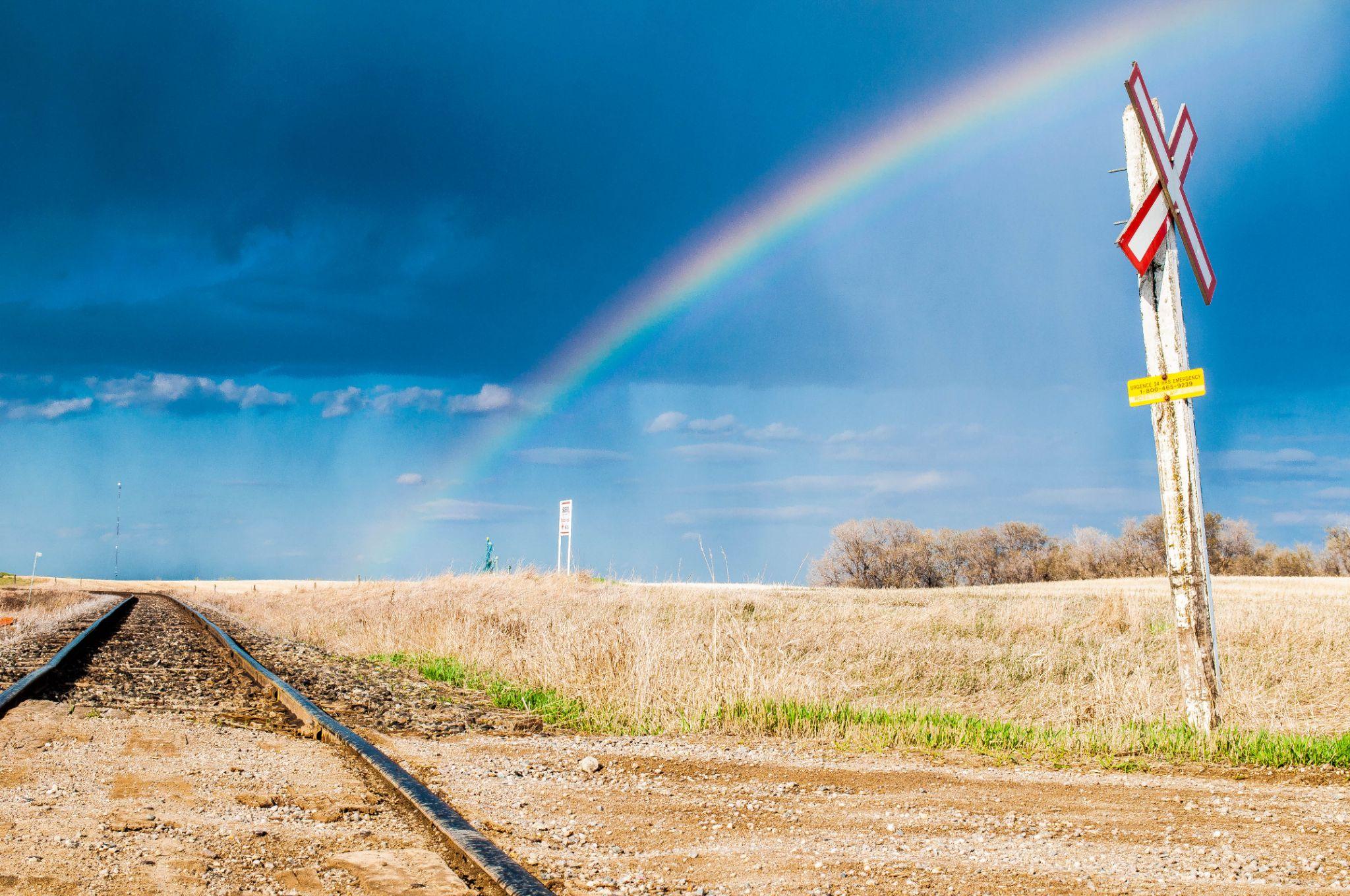 Rainbow Crossing by Ang Klassen