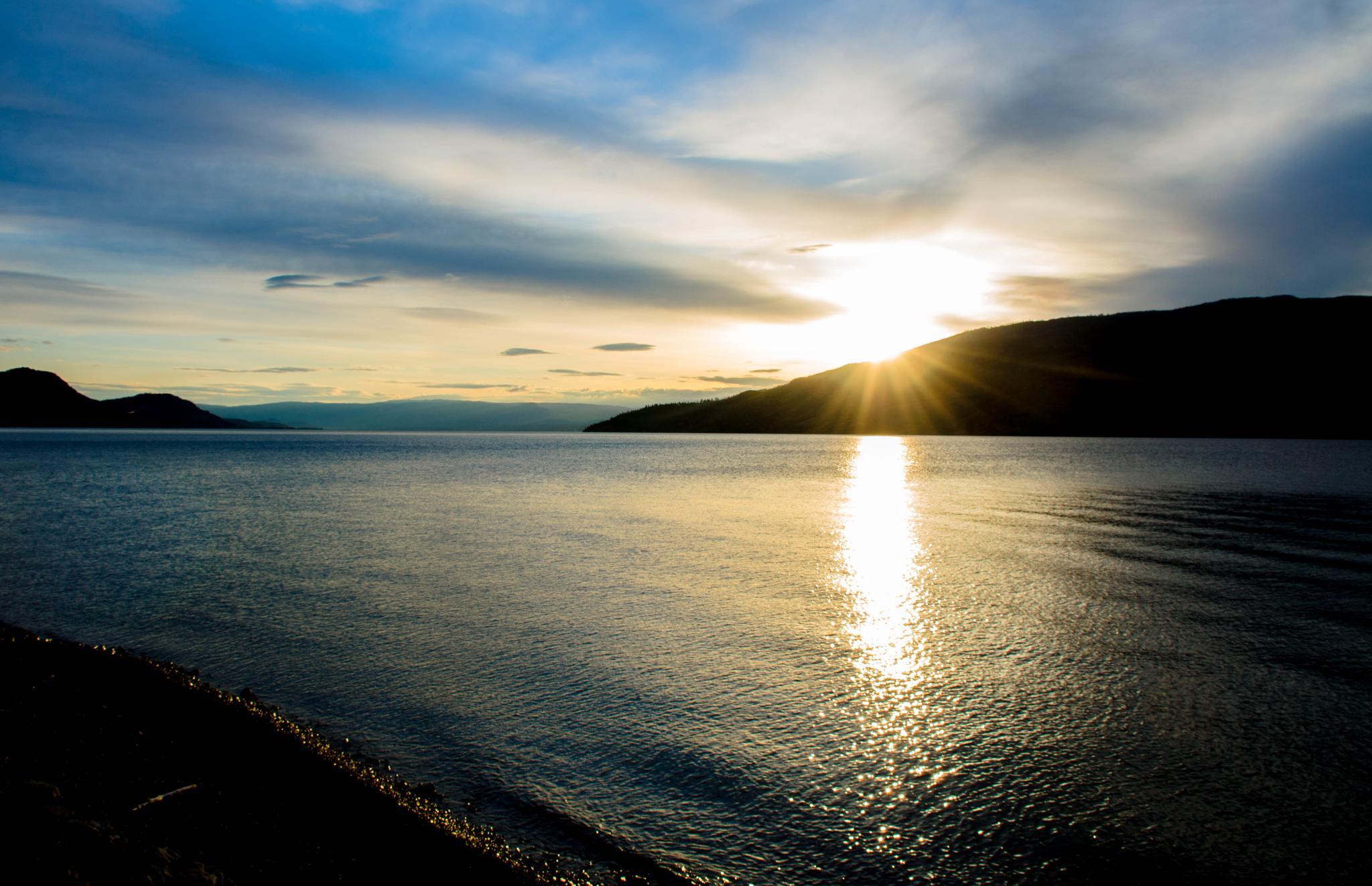 Dawn at Peachland Beach by Ang Klassen