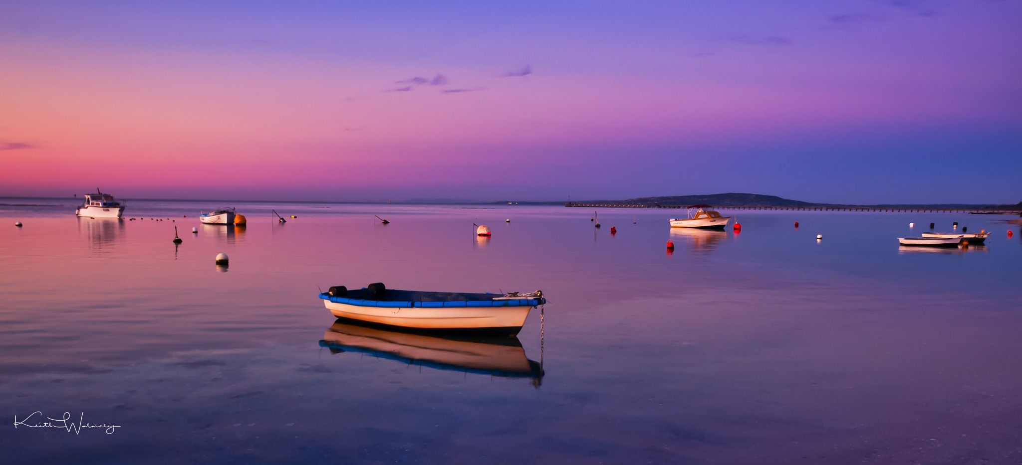 Boats at Dusk. by keithhmw