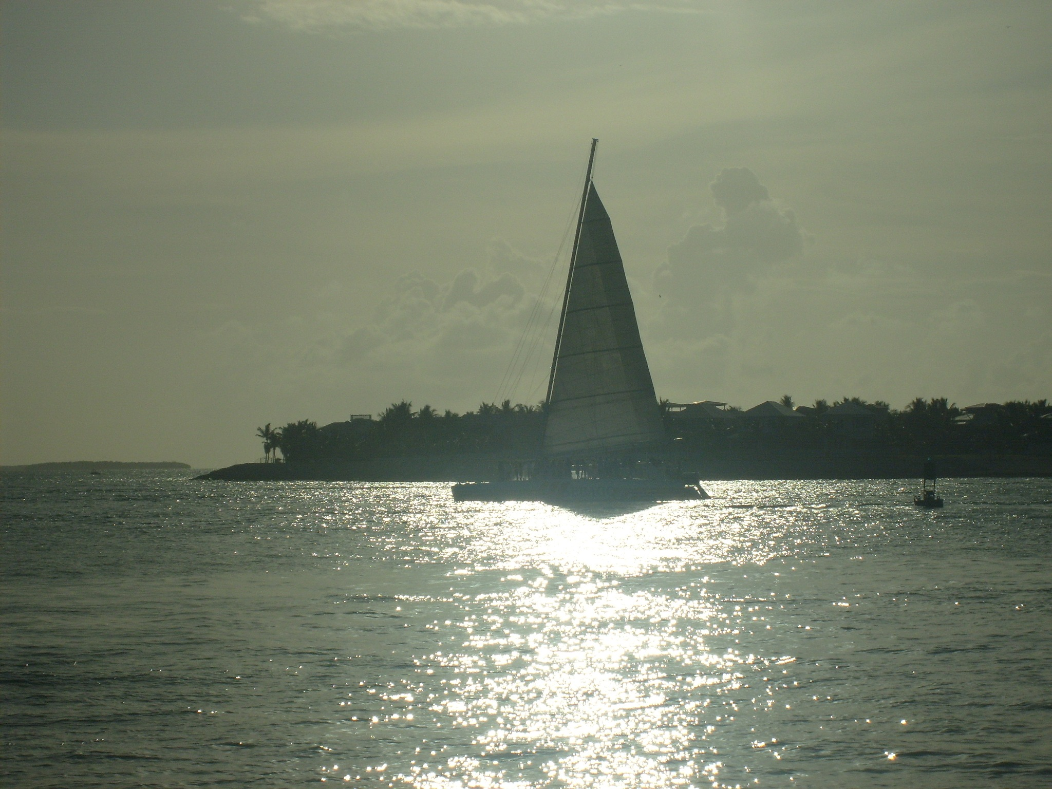 Catamaran off Mallory Square by Keith Mathews Photo-Art