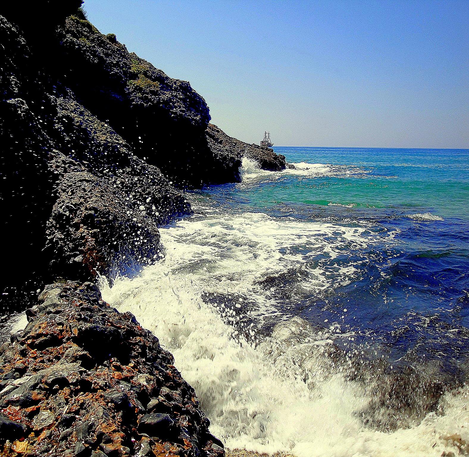 Photo in Sea and Sand #sea #mountain