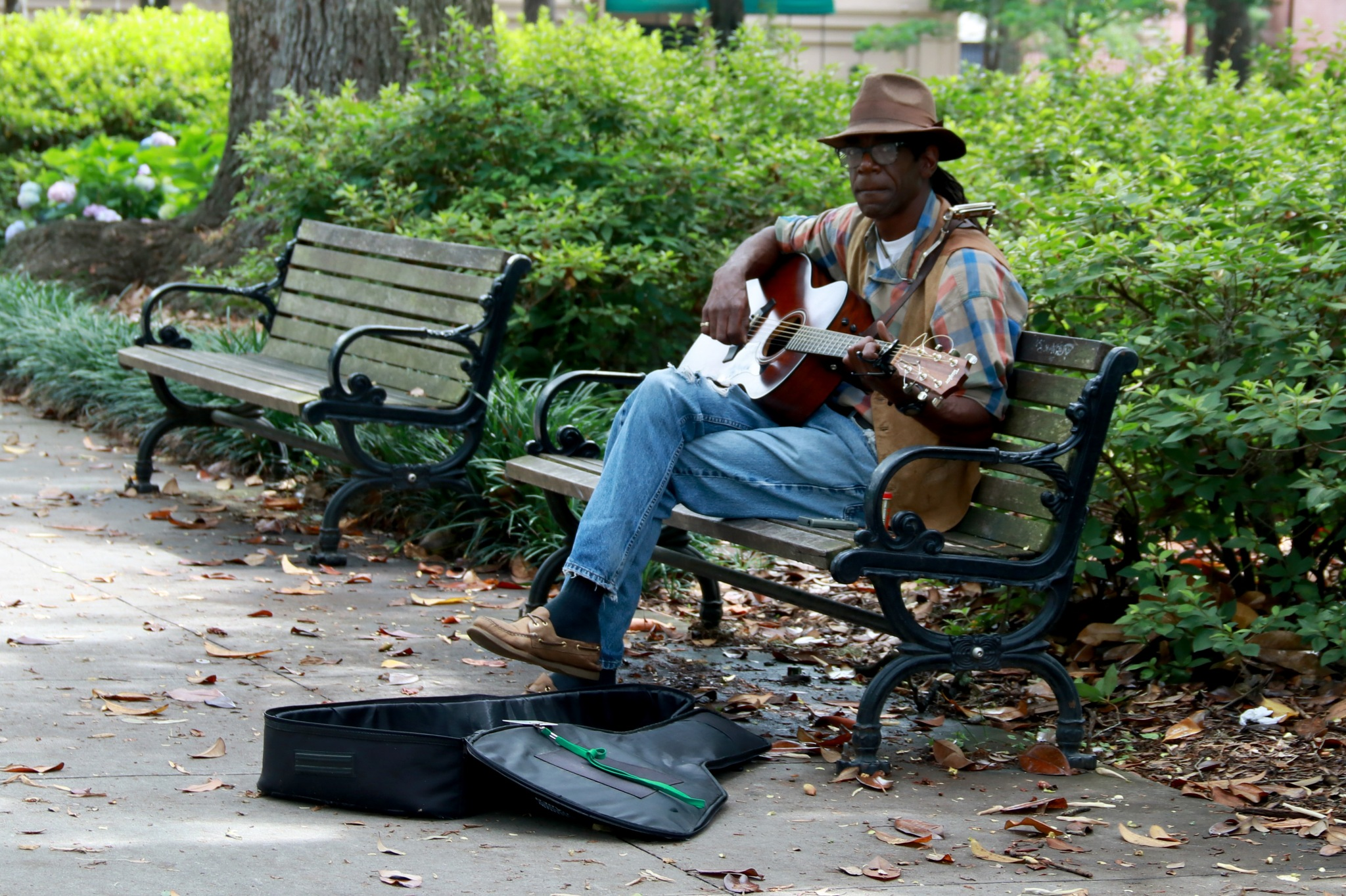 Wonderful day for some music in the park. by James B Justice
