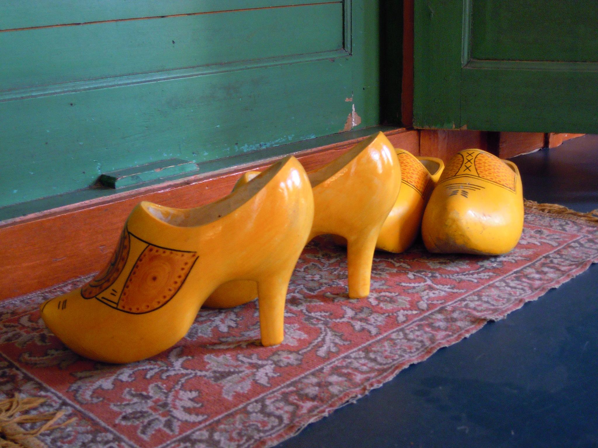 Curious high-heeled Dutch clogs by Bice Portinari