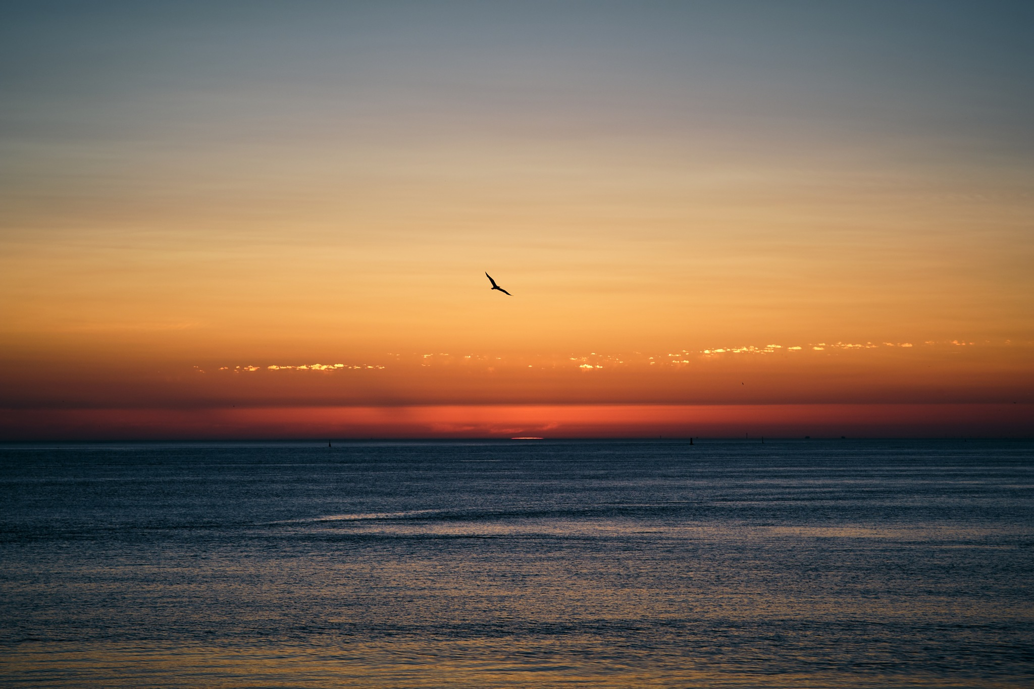 Sunset over the north sea by Alexander Woeste