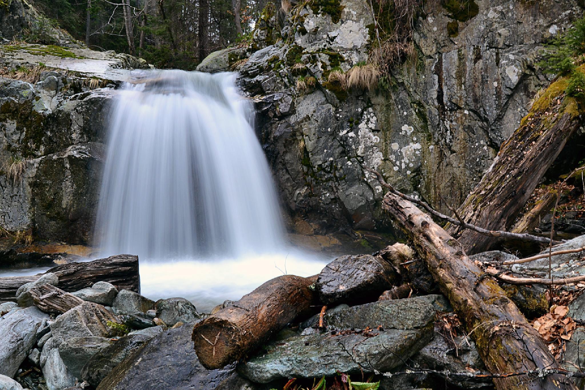 Photo in Landscape #waterfall water river mount
