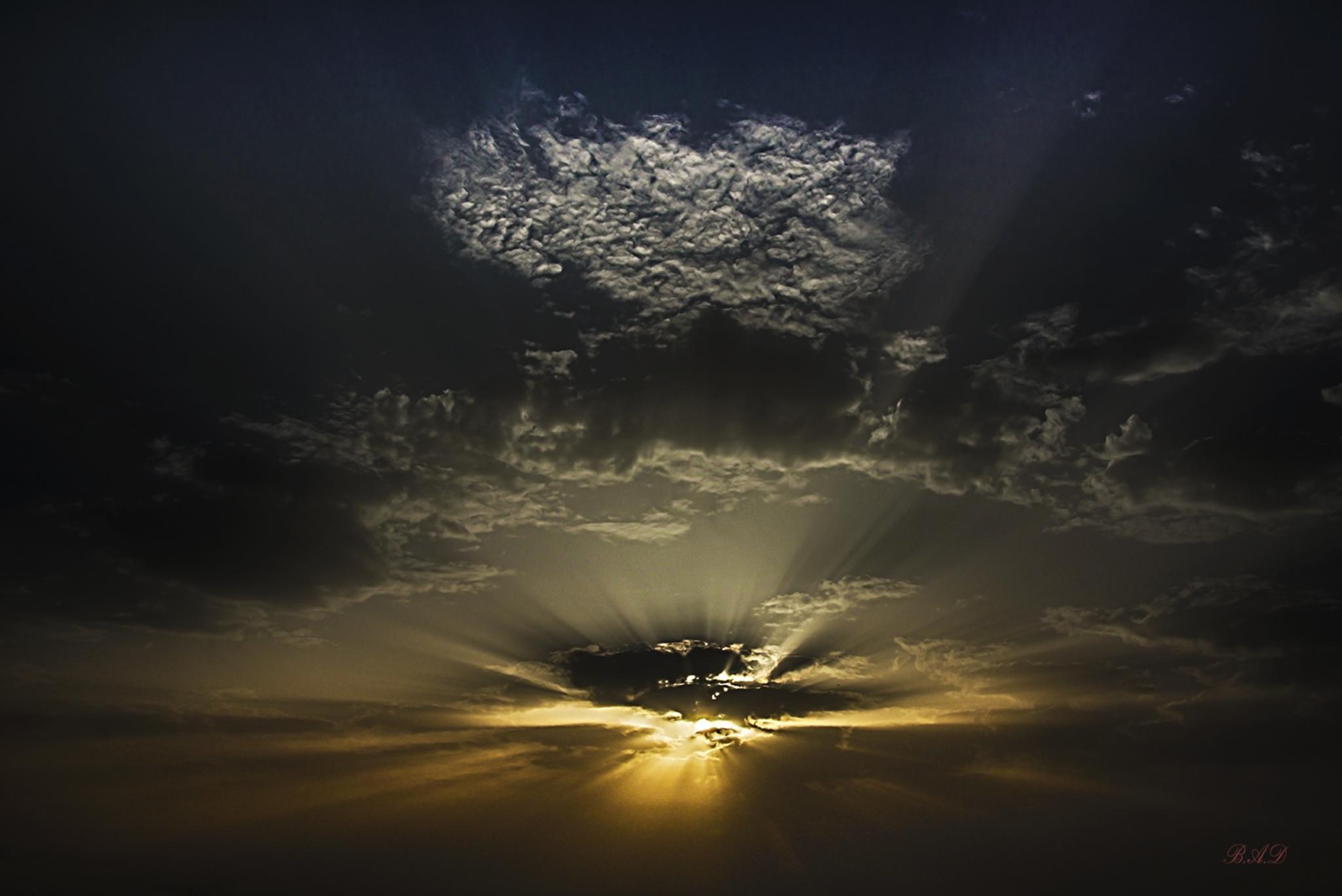 Clouds over Ein Hod by Dan Ben-Arye