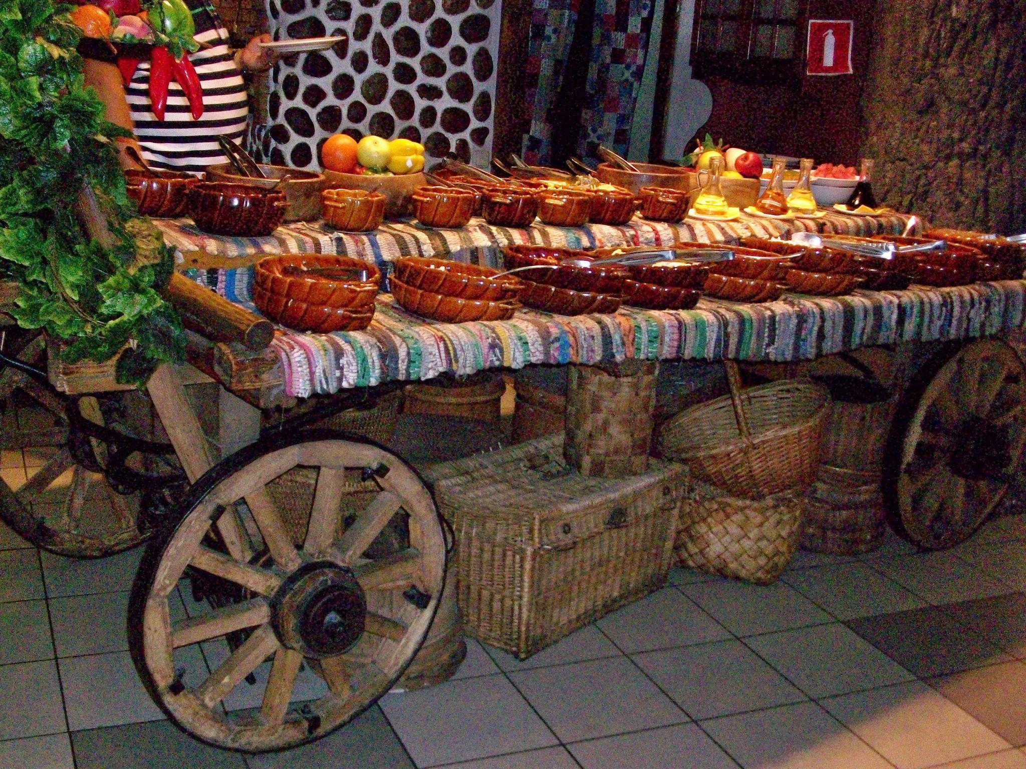 Table at the restaurant Yolki-Palki (or Elki Palki) by NatalyaParris