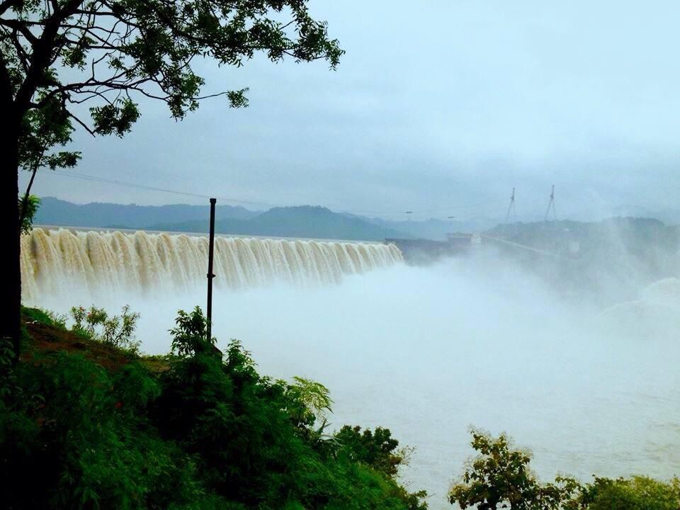 Narmada Dam - Monsoon Season Click  by Bharat75