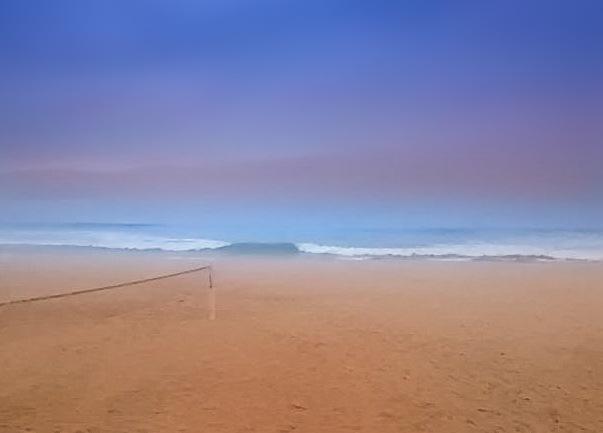 BEACH AT WINTER  by Ulisses Neunaktar