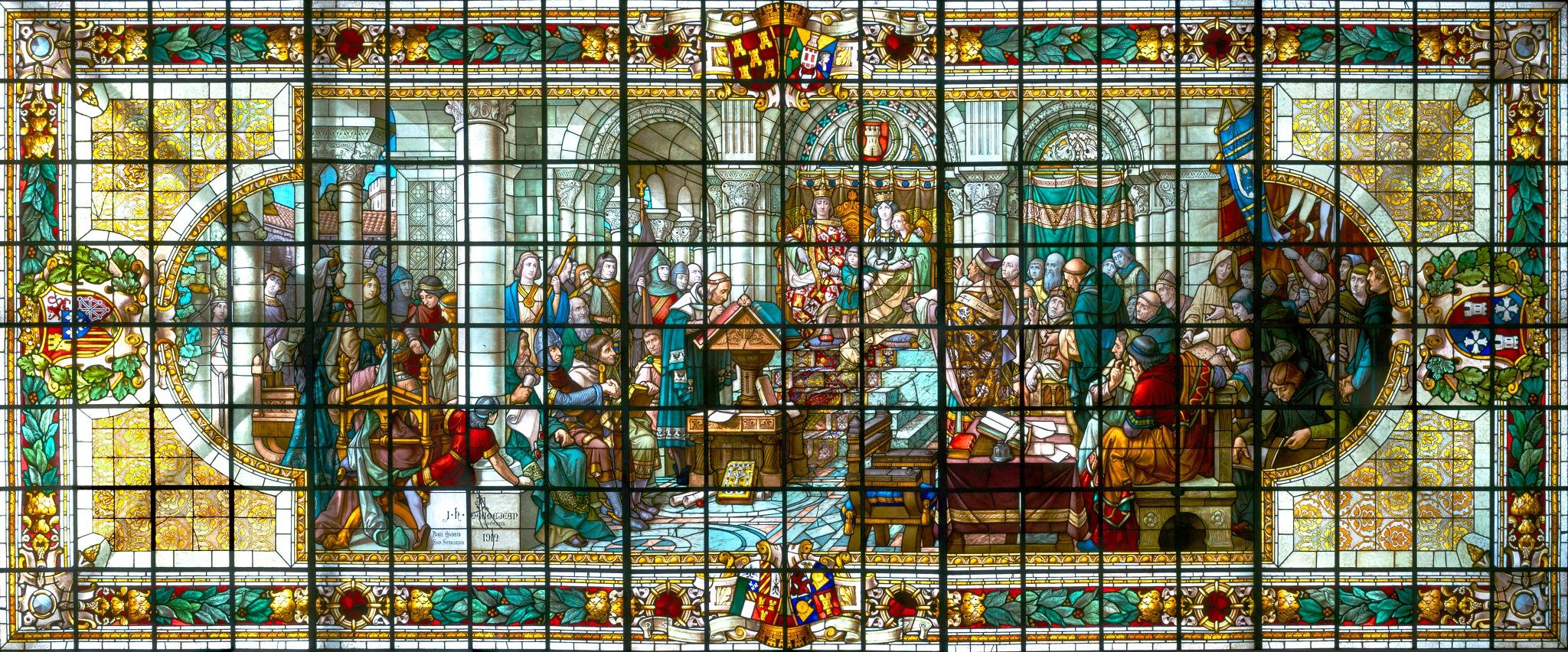 Palacio de la Diputación de Palencia: Vitral del Salón de Actos by Torqueo