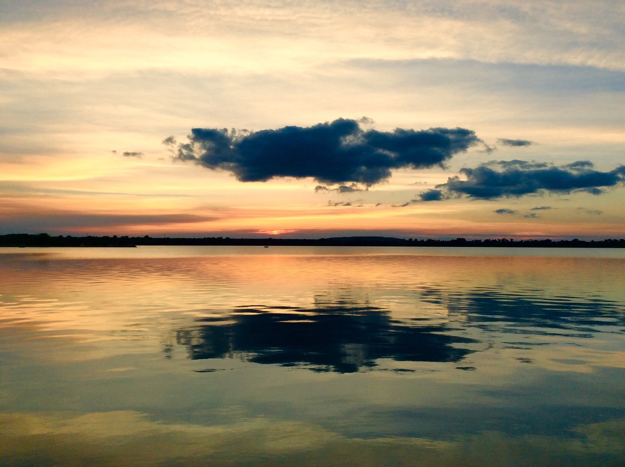 Clouds Over Lake by Chuck Melick