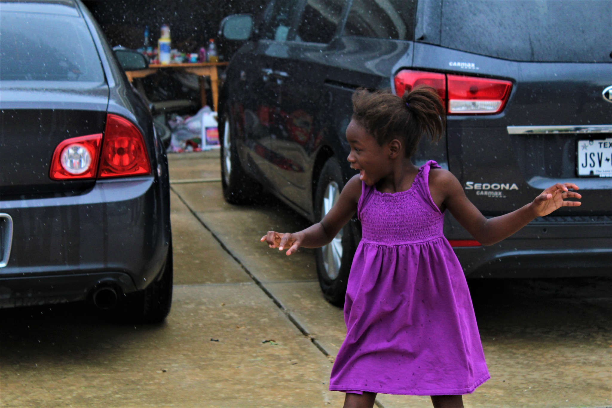 Sister in the rain by Brookelyn