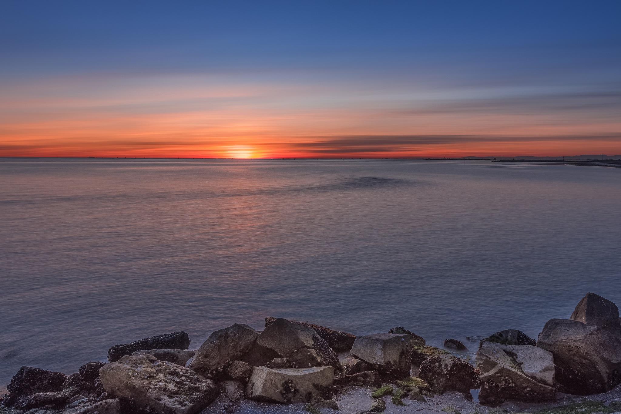 Sunset over Grado by Massimo Buccolieri