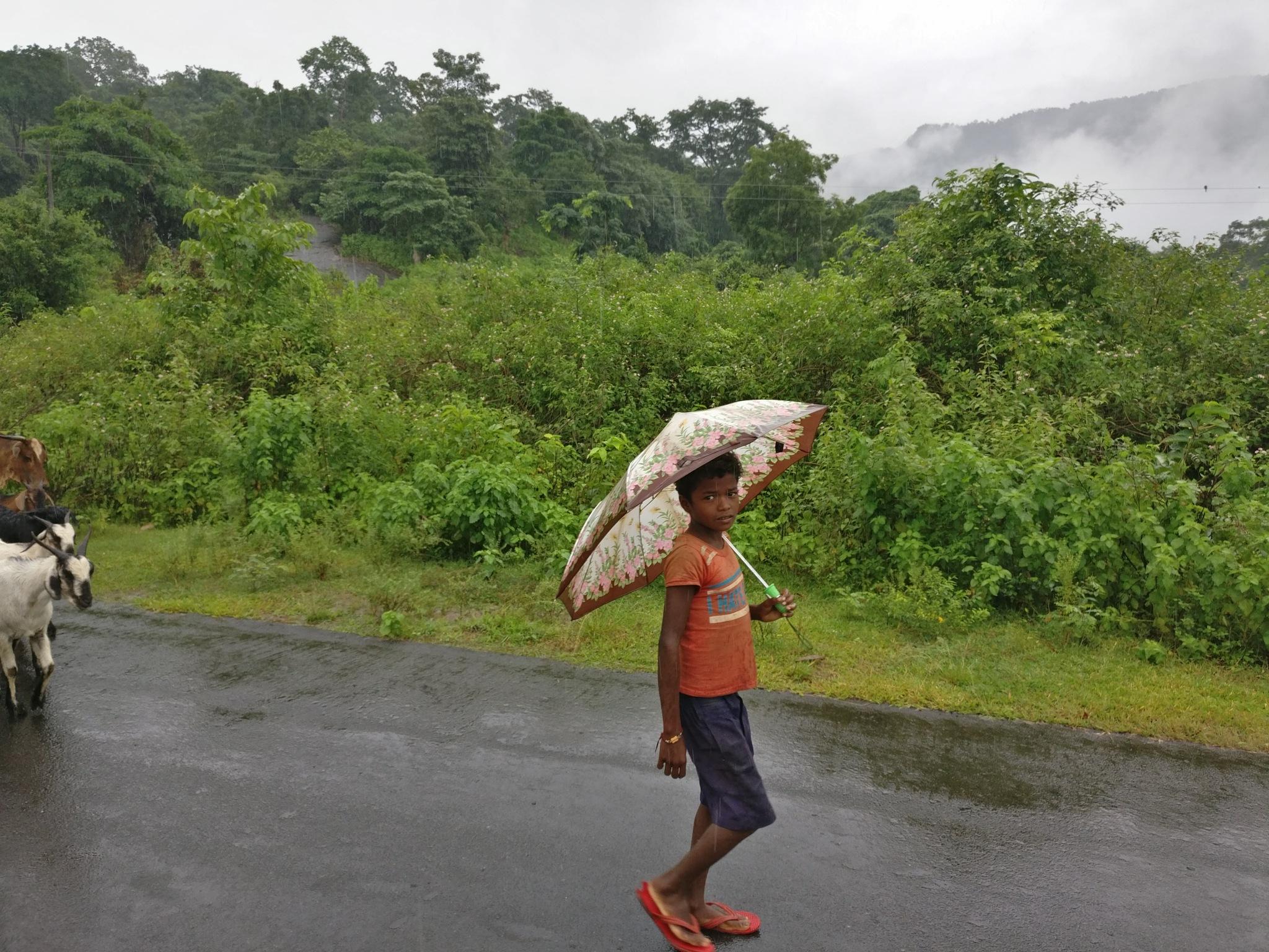 Road to school is far  by Santakar Chelapila