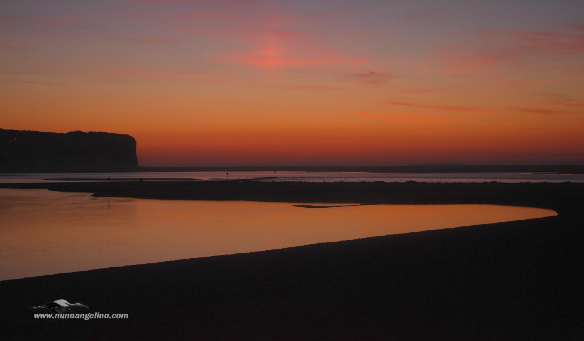 Photo in Landscape #foz do arelho #landscapes #portugal #sunset #pôr do sol #anoitecer