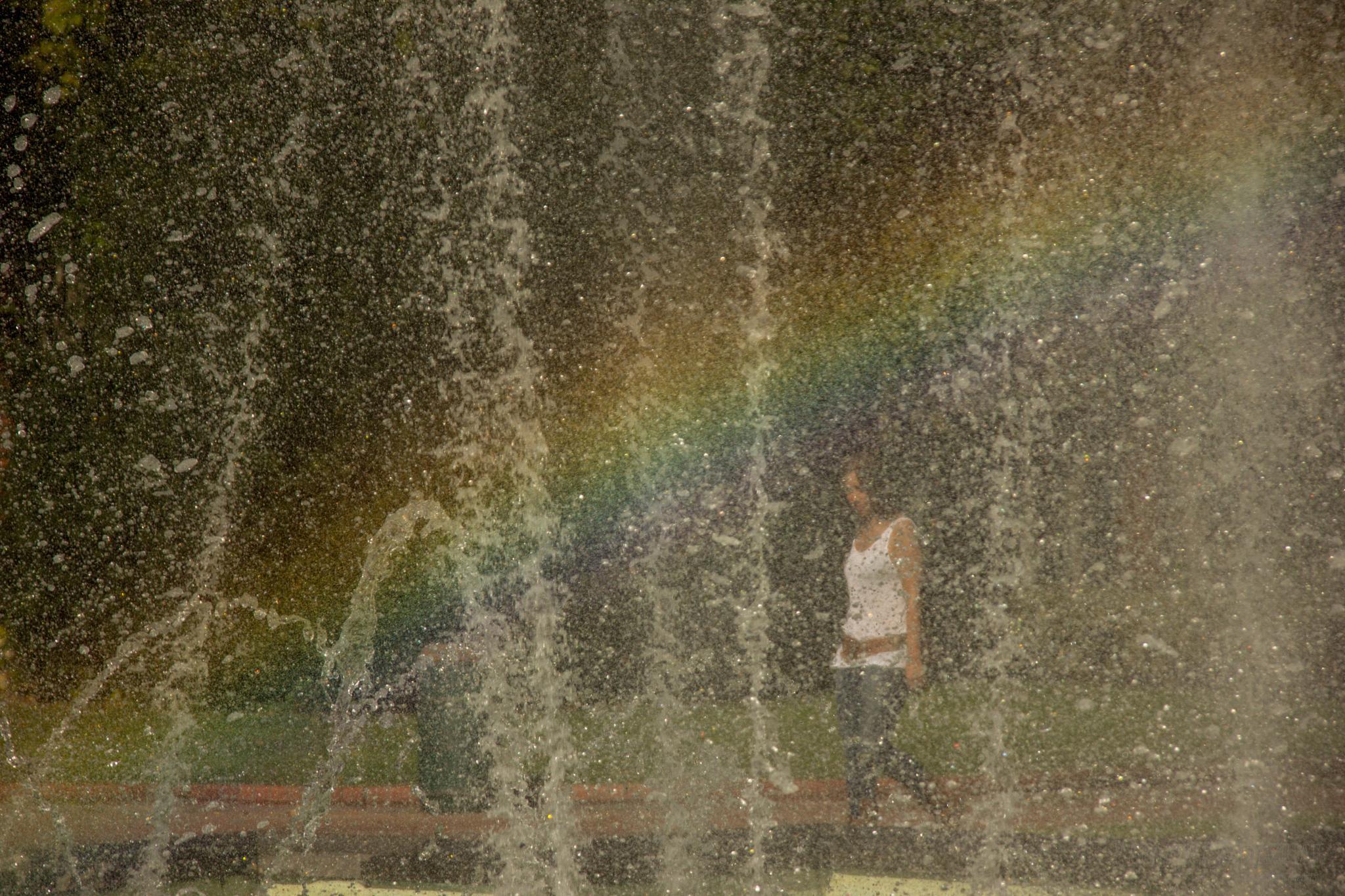behind the curtain and the rainbow by Kapapuka Ibai