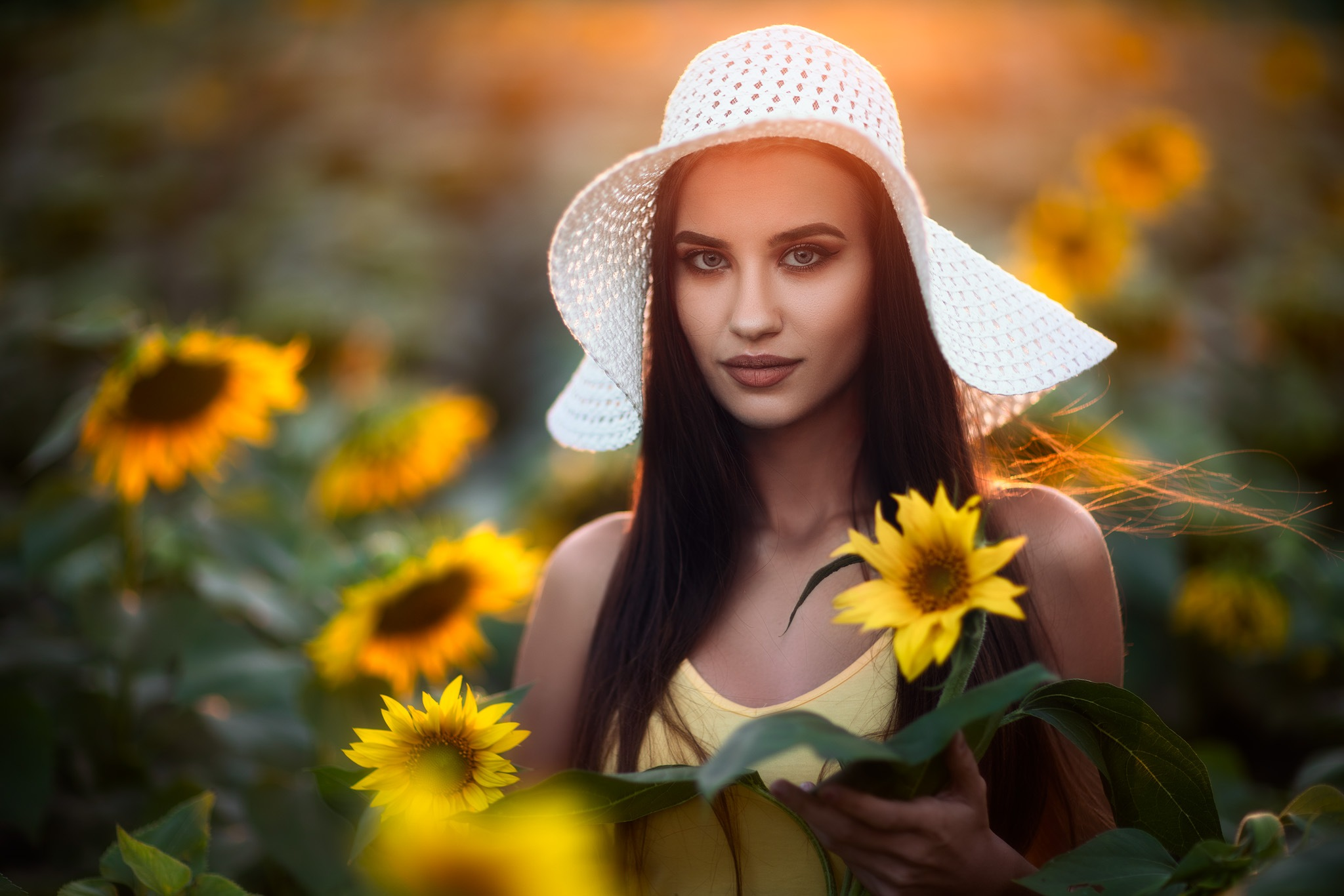 Potrait of P. with Sunflowers by Chavdar Dimitrov