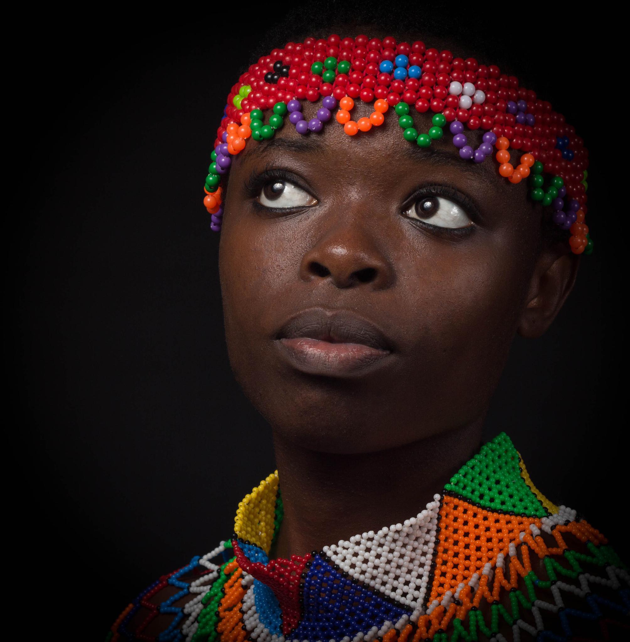 Traditional Zulu girl from South Africa by Johan Syffert