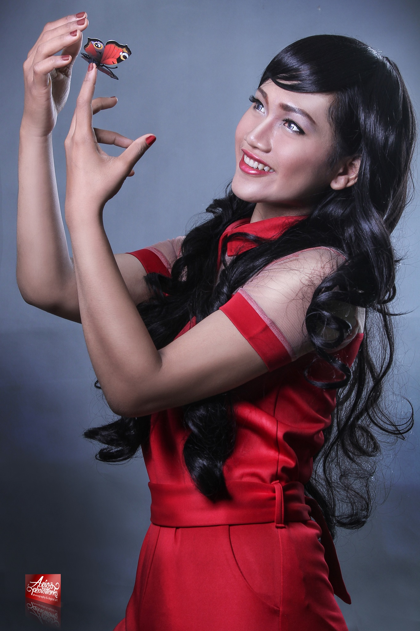 red dress by ario photowork